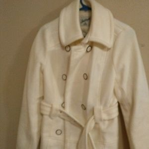 Off White Pea Coat